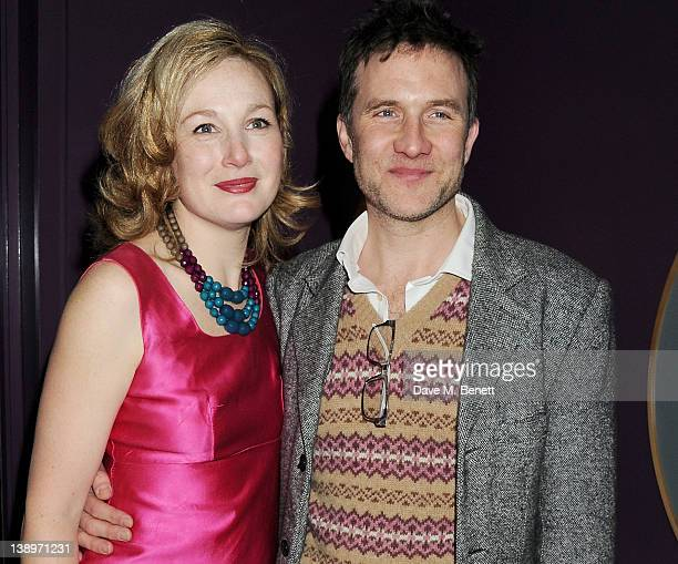 Cast member Nancy Carroll and husband Jo StoneFewings attend an after party following the press night performance of Donmar Warehouse's 'The...