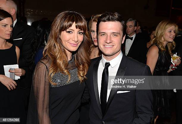 Cast member Nasim Pedrad and actor Josh Hutcherson attend the American Museum of Natural History's 2013 Museum Gala at American Museum of Natural...