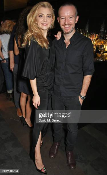 Cast member Natalie Dormer and husband Anthony Byrne attend the press night after party for 'Venus In Fur' at Mint Leaf on October 17 2017 in London...