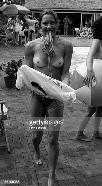 Cast member of Oh Calcutta attending 12th Anniversary Party for 'Oh Caluctta' on August 13 1981 at Norman Kearn's Home in Montauk New York