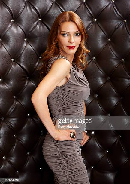 Cast member of reality show 'Mob Wives' Drita D'avanzo is photographed for Reality Weekly on January 16 2012 in Staten Island New York