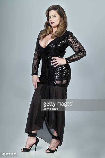 Cast member of reality show 'Mob Wives' Karen Gravano poses for a portrait on January 12 2015 in New York City