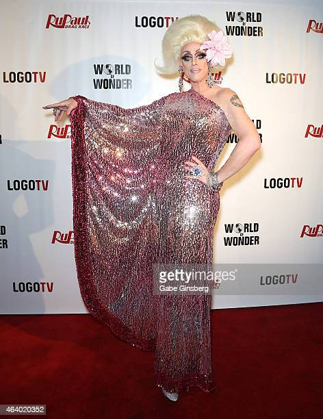 Cast member of season seven of 'RuPaul's Drag Race' Tempest DuJour arrives at a viewing party for the show's premiere at the Chateau Nightclub...