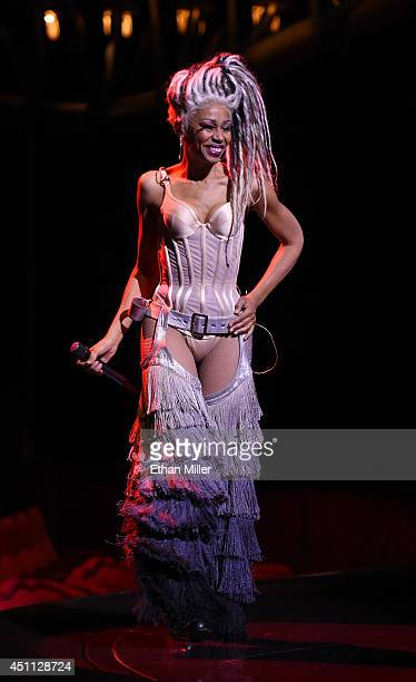 Cast member Paris Red performs during a preview for NeNe Leakes' 10show guest engagement as The Mistress of Sensuality in Zumanity The Sensual Side...