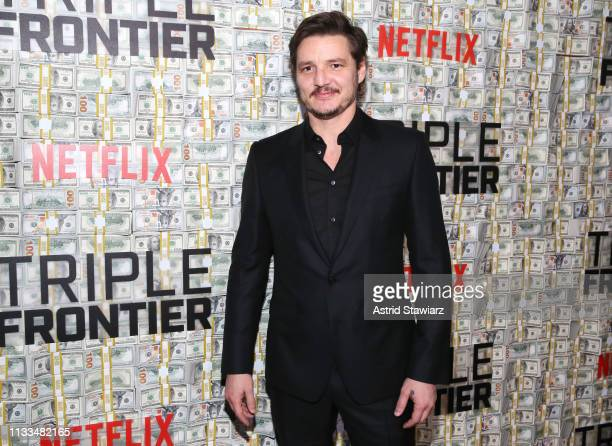 Cast member Pedro Pascal attends Netflix World Premiere of TRIPLE FRONTIER at Lincoln Center on March 03 2019 in New York City