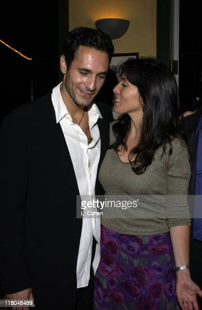Cast Member Raoul Bova and Director Audrey Wells during 'Under the Tuscan Sun' CD Release Party at Cafe' Med Sunset Plaza in West Hollywood...