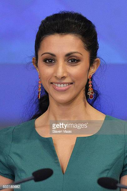 Cast member Reshma Shetty of USA Network's 'Royal Pains' rings The NASDAQ Closing Bell at NASDAQ on May 20 2016 in New York City