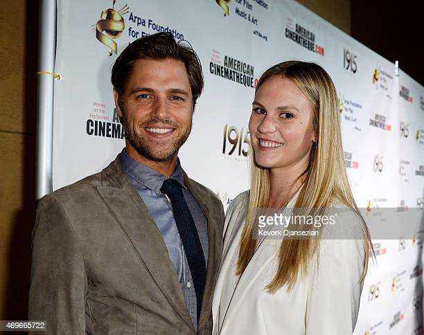 Cast member Sam Page and wife Cassidy Boesch pose during the Los Angeles premiere of the film 1915 The Movie at American Cinematheque's Egyptian...
