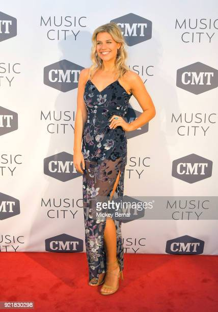Cast member Sarah Thomas attends CMT's 'Music City' Premiere Party at The Back Corner on February 20 2018 in Nashville Tennessee