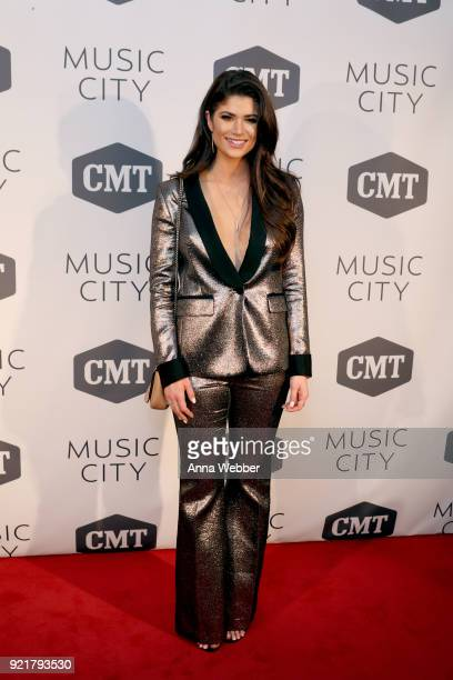 Cast member Savannah Hodge attends CMT's 'Music City' premiere party on February 20 2018 in Nashville Tennessee