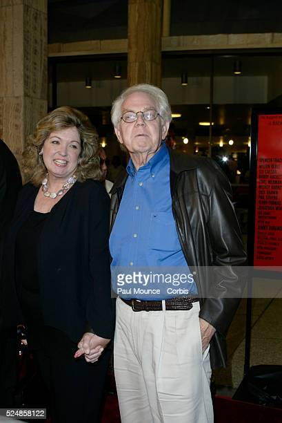 Cast member Stan Freberg and wife Hunter arrive at the 40th anniversary celebration for the Arclight Cinerama Dome and MGM's new 40th Anniversary...