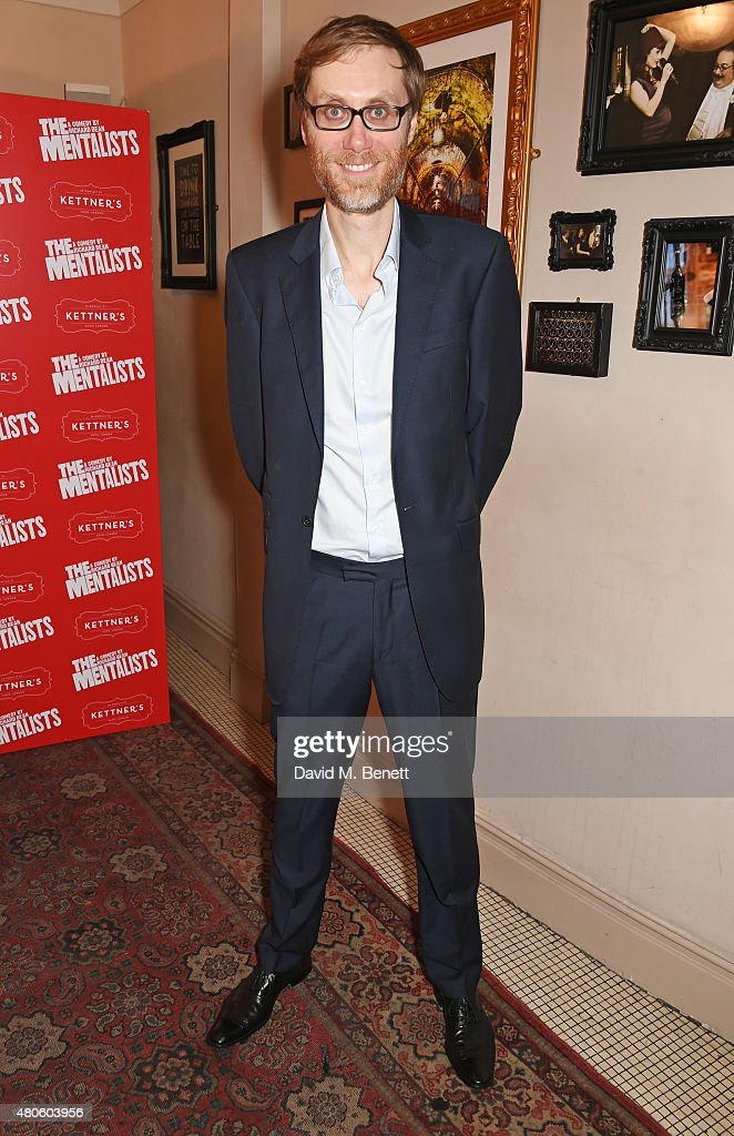 Cast member Stephen Merchant attends an after party following the press night performance of 'The Mentalists' at Kettner's on July 13, 2015 in London, England.