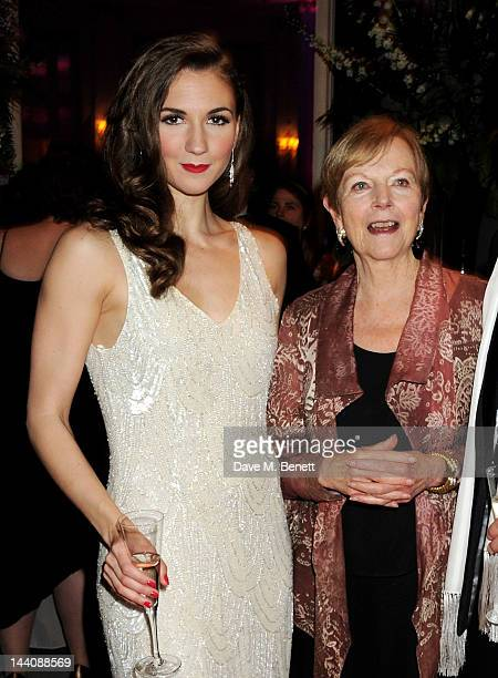 Cast member Summer Strallen and Ava Astaire McKenzie daughter of Fred Astaire attend an after party celebrating the press night performance of 'Top...