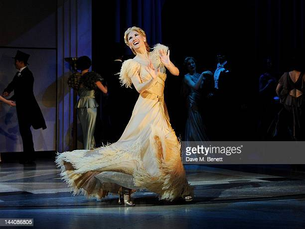 Cast member Summer Strallen performs during the press night performance of 'Top Hat' at the Aldwych Theatre on May 9 2012 in London England