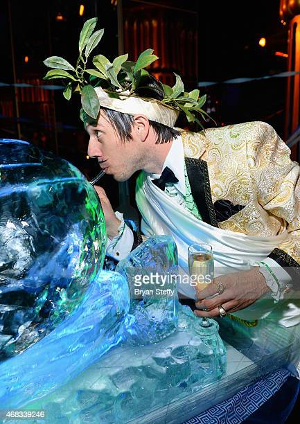 ABSINTHE cast member The Gazillionaire attends the show's fourth anniversary party at Caesars Palace on April 1 2015 in Las Vegas Nevada