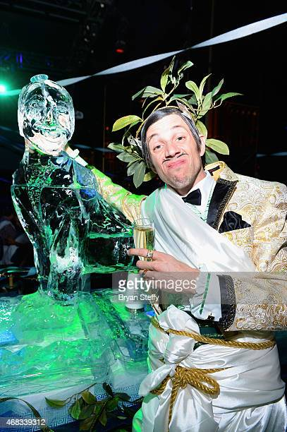 'ABSINTHE' cast member The Gazillionaire attends the show's fourth anniversary party at Caesars Palace on April 1 2015 in Las Vegas Nevada