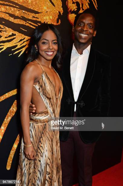 Cast members Adrienne Warren and Kobna HoldbrookSmith attend the press night after party for 'Tina The Tina Turner Musical' at Somerset House on...
