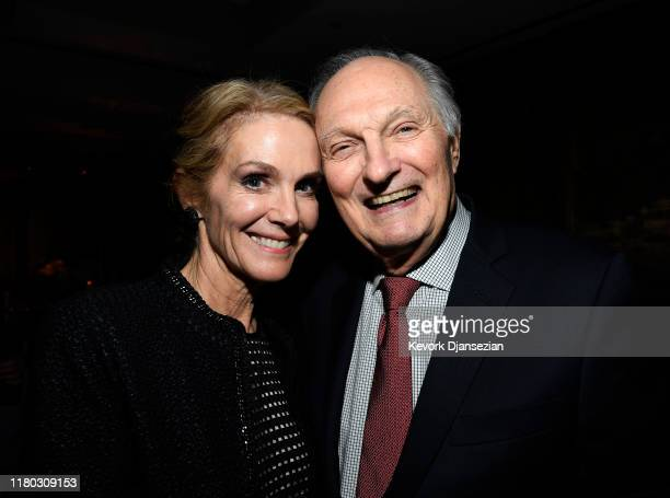 Cast members Alan Alda and Julie Hagerty attend the after party following the premiere of Netflix's Marriage Story on November 5 2019 in Los Angeles...