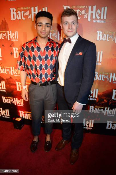 Cast members Alex ThomasSmith and Patrick Sullivan attend the Gala Night after party for 'Bat Out Of Hell The Musical' at the Bloomsbury Ballroom on...