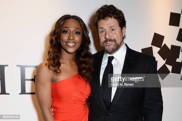 Cast members Alexandra Burke and Michael Ball attend the press night after party for 'Chess' at St Martins Lane on May 1 2018 in London England