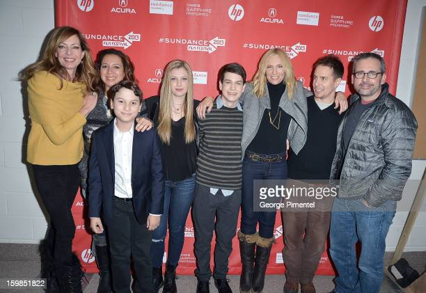 Cast members Allison Janney Maya Rudolph River Alexander Zoe Levin Liam James Toni Collette Sam Rockwell and Steve Carell attend 'The Way Way Back'...