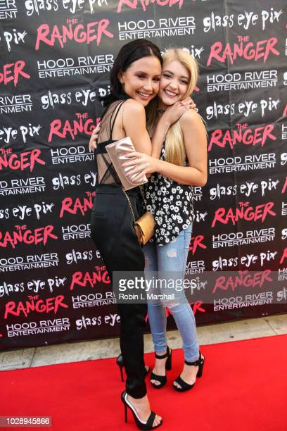 "Cast members Amanda Grace Benitez and Samantha Bailey attend the premiere of Hood River Entertainment and Glass Eye Pix's ""The Ranger"" at Laemmle..."