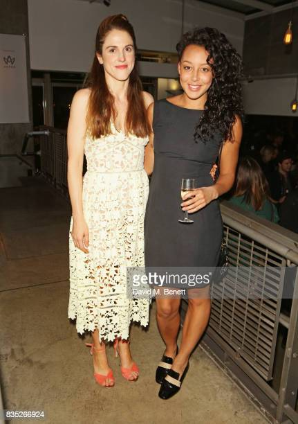 Cast members Amanda Hale and Adelle Leonce attend the press night after party for Against at The Almeida Theatre on August 18 2017 in London England