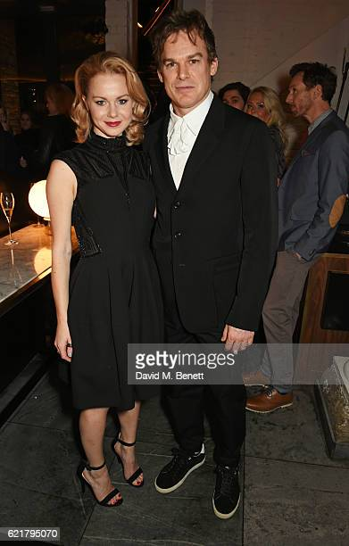 Cast members Amy Lennox and Michael C Hall attend the press night after party for 'Lazarus' at the King's Cross Theatre on November 8 2016 in London...