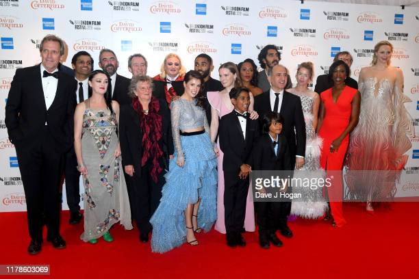 Cast members and guests including Hugh Laurie Aki Omoshaybi Gwendoline Tracey Philippa Christie Dev Patel Paul Whitehouse Aimee Kelly Anthony Welsh...