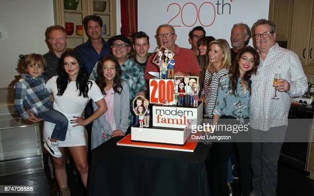 Cast members and producers attend the ABC celebration of the 200th episode of Modern Family at Fox Studios on November 15 2017 in Los Angeles...