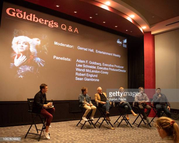 THE GOLDBERGS Cast members and producers of THE GOLDBERGS mingled with members of the press and assorted guests as Halloween was celebrated early on...