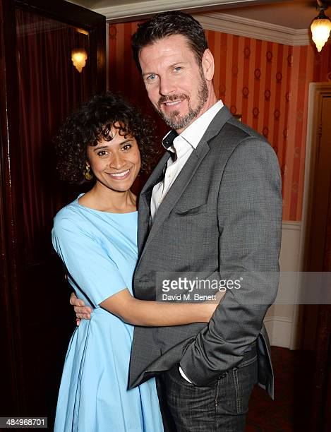 Cast members Angel Coulby and Lloyd Owen attend the press night performance of 'Good People' at the Noel Coward Theatre on April 15 2014 in London...