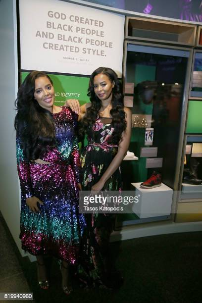 Cast members Angela Simmons and Vanessa Simmons attend WE tv's celebration of Growing Up Hip Hop Season 3 at the Smithsonian Institute National...