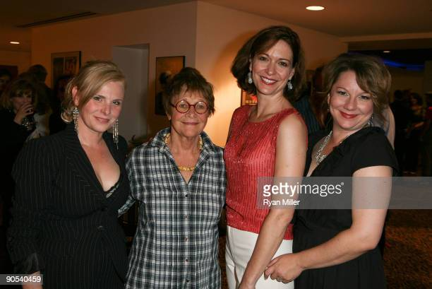 Cast members Angelica Torn Estelle Parsons Shannon Cohran and Amy Warren pose while celebrating the opening night performance of 'August Osage...