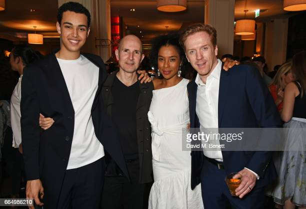 Cast members Archie Madekwe director Ian Rickson Sophie Okonedo and Damian Lewis attend the press night after party for Edward Albee's The Goat Or...