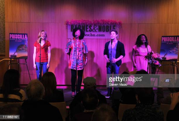 Cast members Ashley Spencer Jacqueline B Arnold Nick Adams and Anastacia McCleskey promote the Priscilla Queen Of The Desert Broadway cast recording...