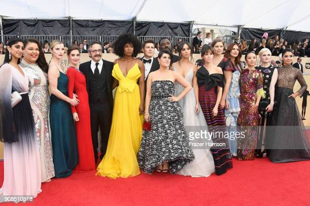 GLOW cast members attend the 24th Annual Screen Actors Guild Awards at The Shrine Auditorium on January 21 2018 in Los Angeles California