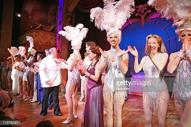 Cast members attend the 'La Cage Aux Folles' Broadway revival one year anniversary at the Longacre Theatre on April 20 2011 in New York City