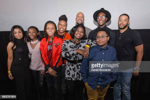 Cast members attends the QA during an advance screening of Showtime's 'The Chi' on Chicago's South Side at SMG Chatham on December 14 2017 in Chicago...