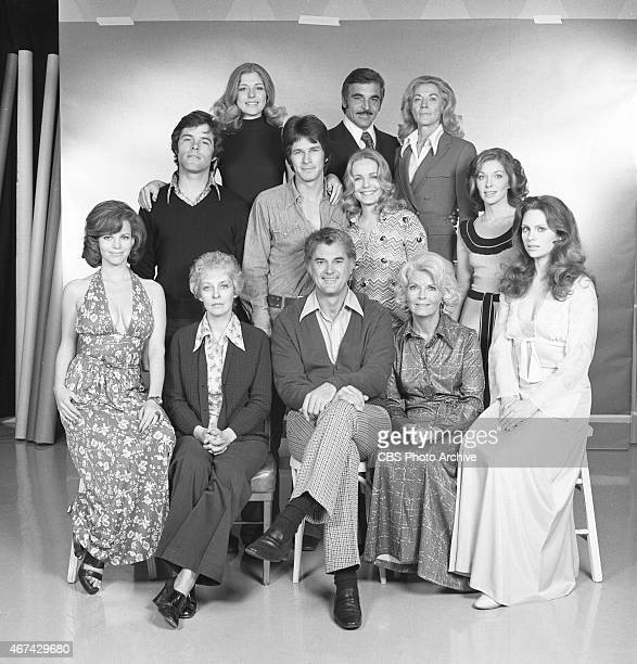 RESTLESS cast members back row from left to right Lee Crawford Donnelly Rhodes and Jeanne Cooper Middle row James Houghton William Greg Espy Trish...