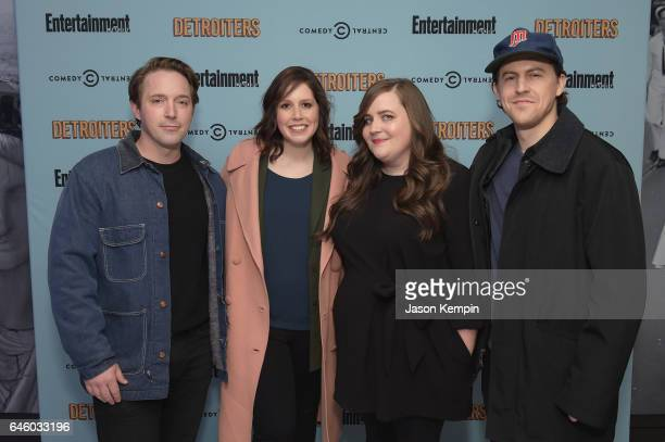 SNL cast members Beck Bennett Vanessa Bayer Aidy Bryant and Alex Moffat attend an exclusive Screening Of Detroiters starring Sam Richardson and Tim...