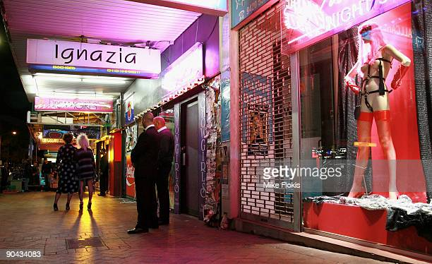 Cast members begin filming during the third series of TV drama Underbelly The Golden Mile at Longueville Road Lane Cove on September 8 2009 in Sydney...