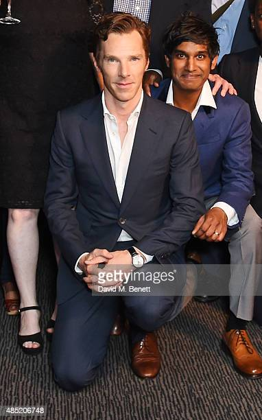 Cast members Benedict Cumberbatch and Rudi Dharmalingam attend an after party following the press night performance of 'Hamlet' at the Barbican...