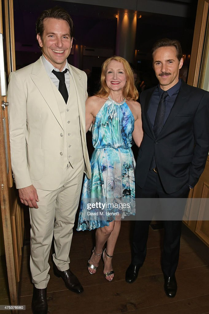 Cast members Bradley Cooper, Patricia Clarkson and Alessandro Nivola attend an after party celebrating the VIP Gala Preview of 'The Elephant Man' at The Haymarket Hotel on May 26, 2015 in London, England.