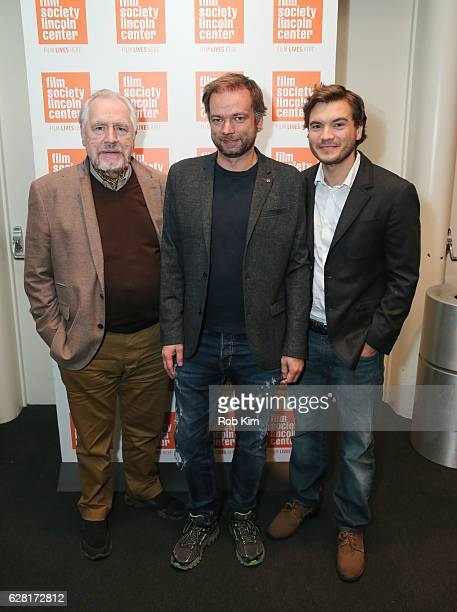 Cast members Brian Cox director Andre Ovredal and Emile Hirsch attend the New York Premiere of The Autopsy Of Jane Doe at The Film Society of Lincoln...