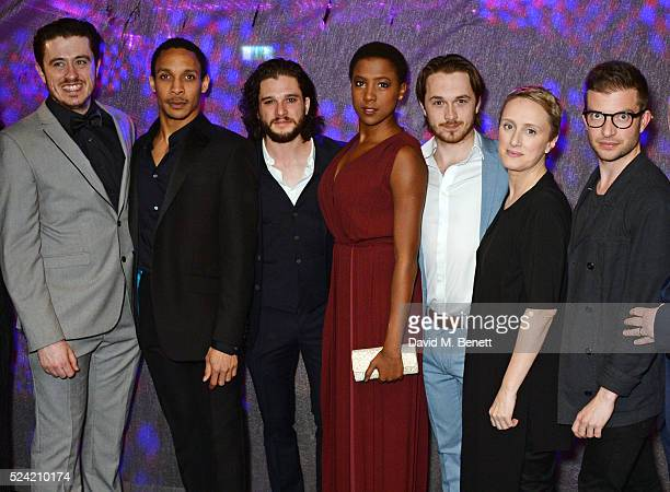 Cast members Brian Gilligan, Craig Stein, Kit Harington, Jade Anouka, Garmon Rhys, Jenna Russell and director Jamie Lloyd attend the Gala Night...