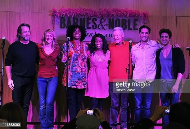 Cast members C David Johnson Ashley Spencer Jacqueline B Arnold Anastacia McCleskey Tony Sheldon Will Swenson and Nick Adams promote the Priscilla...