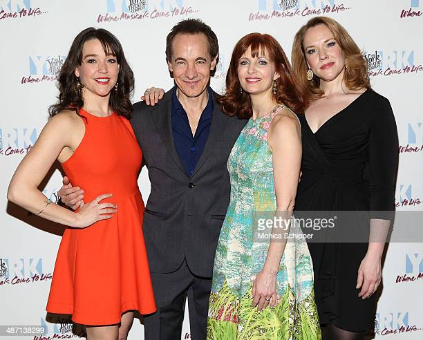 Cast members Cameron Adams Jason Graae Lynne Halliday and Emily Skinner attend the opening night of Inventing Mary Martin at The York Theatre at...