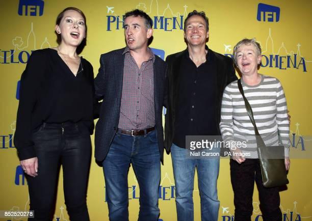Cast members Cathy Belton Steve Coogan Sean Mahon and Ruth McCabe attend the screening of the film Philomena at the Irish Film Institute Dublin