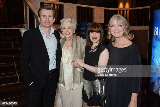 Cast members Charles Edwards Dame Angela Lansbury Jemima Rooper and Serena Evans attend an after party celebrating the press night performance of...